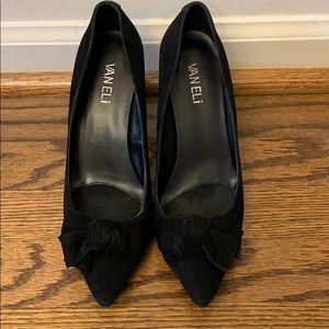 Vaneli Black Suede Heels